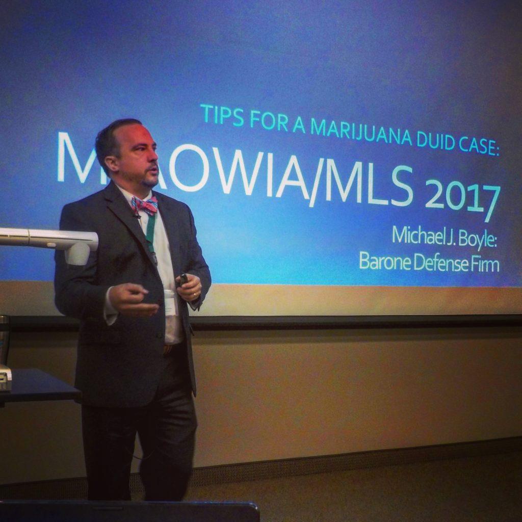 Boyle Presents at Drugged Driving Seminar in Lansing Michigan